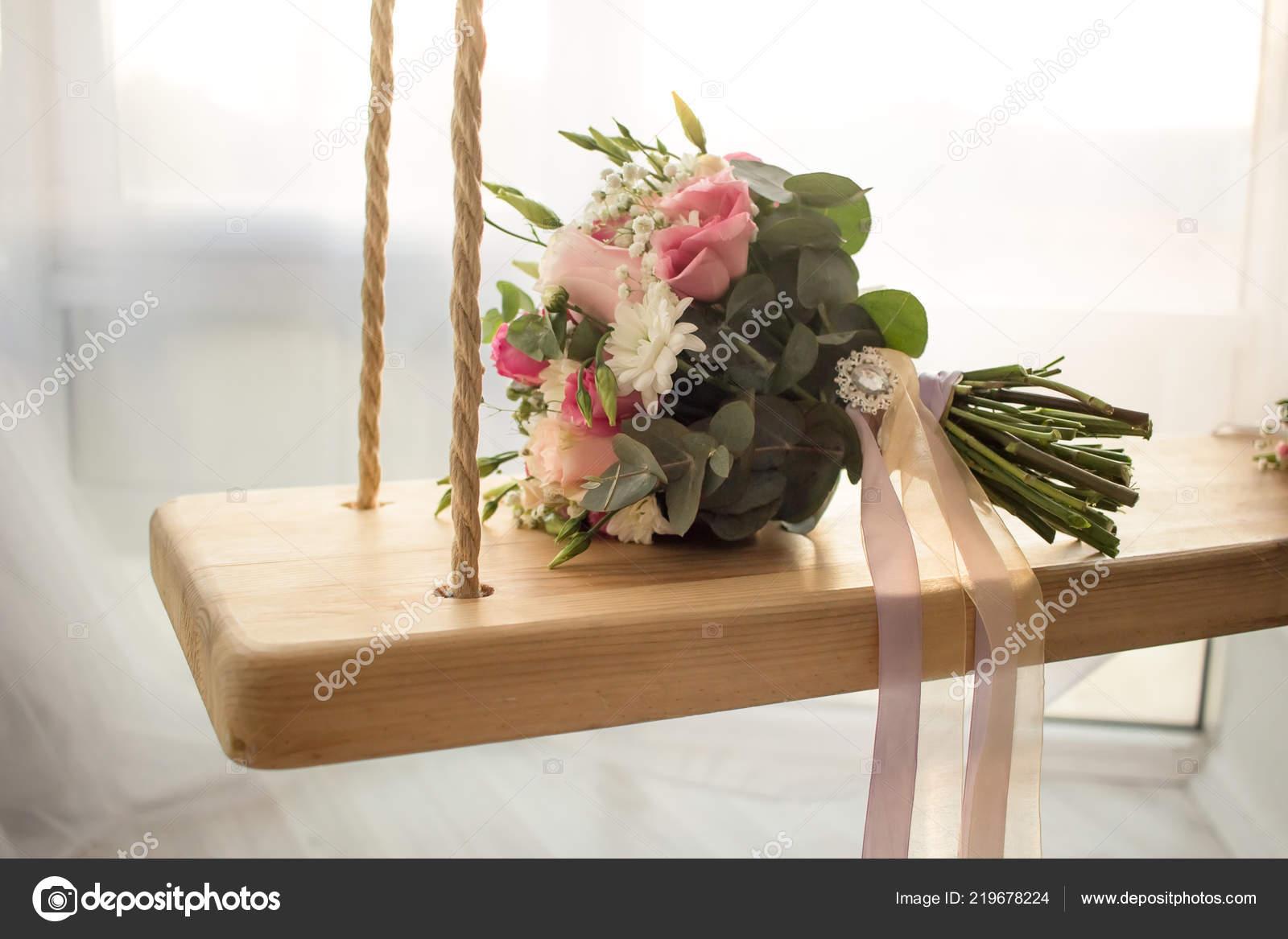 Wedding Bouquet Flowers Indoor Romantic Window Wedding