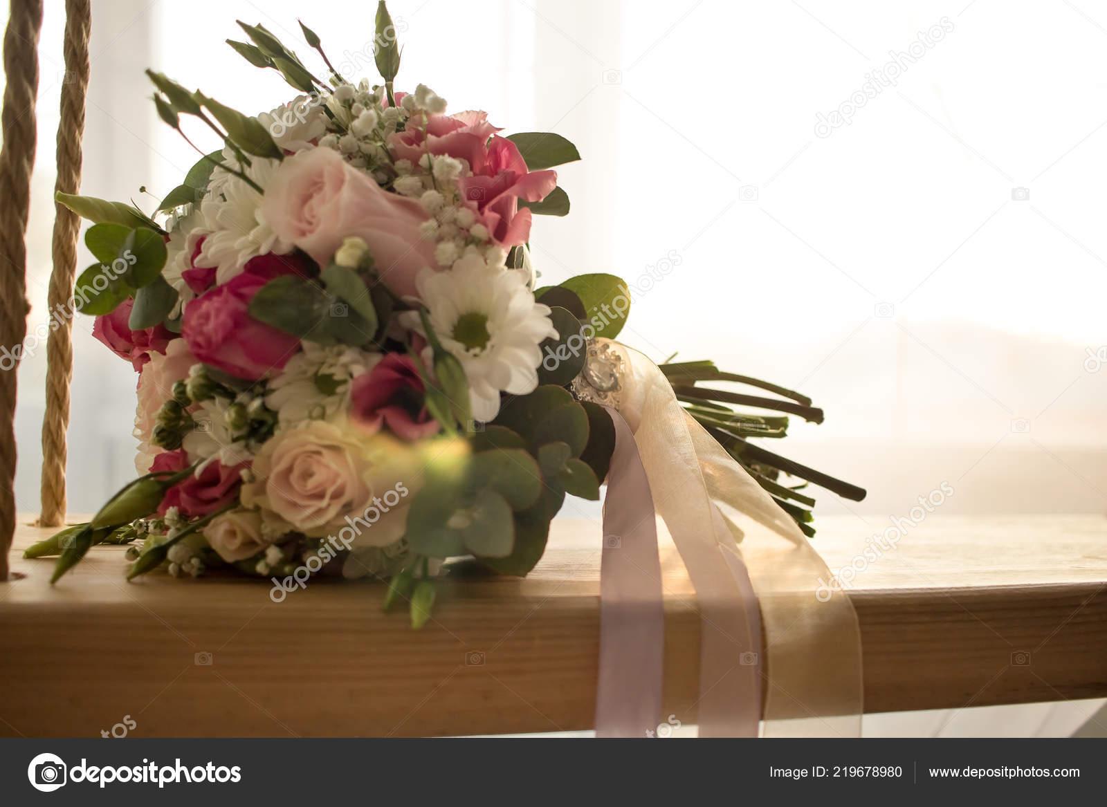 Wedding Bouquet Close Indoor Swing Romantic Wedding