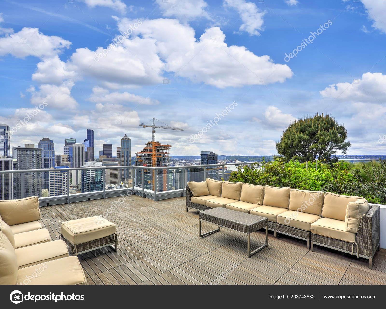 Edificio Azotea Superior Sky Lounge Para Descanso Comedor