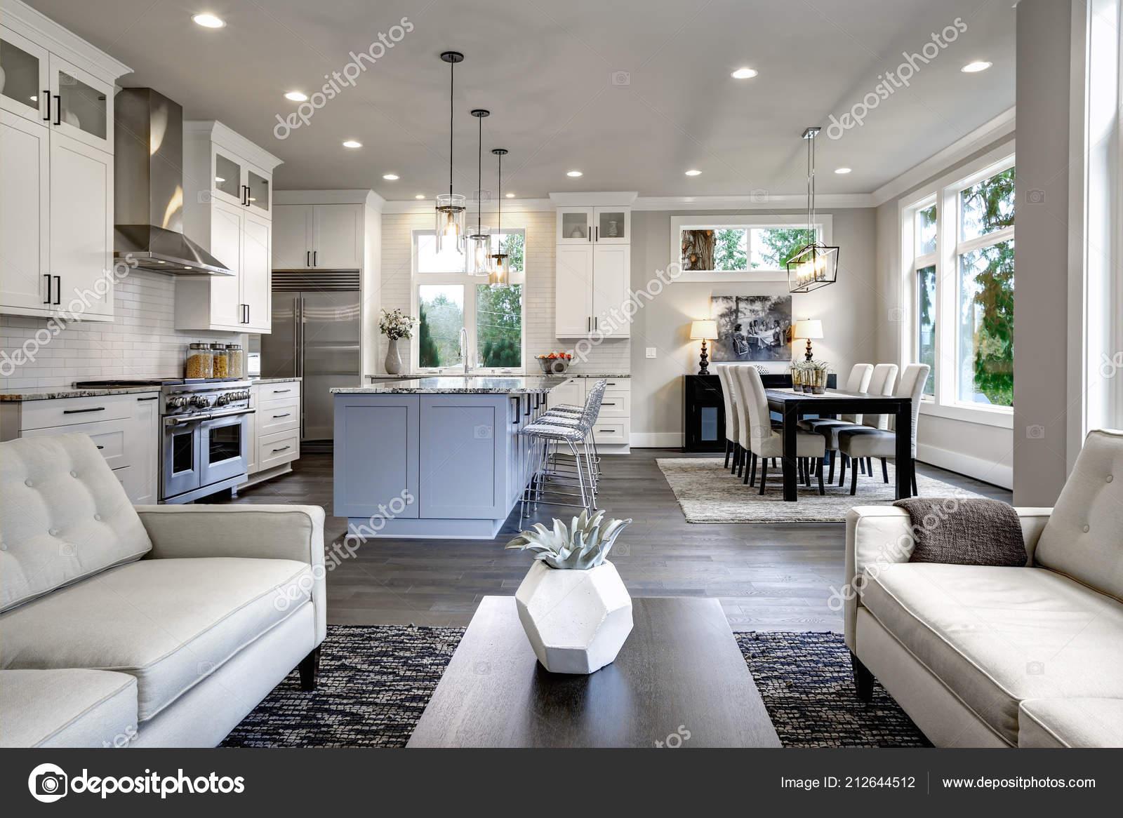Große Moderne Luxus Wohnzimmer Interieur Bellevue Nach
