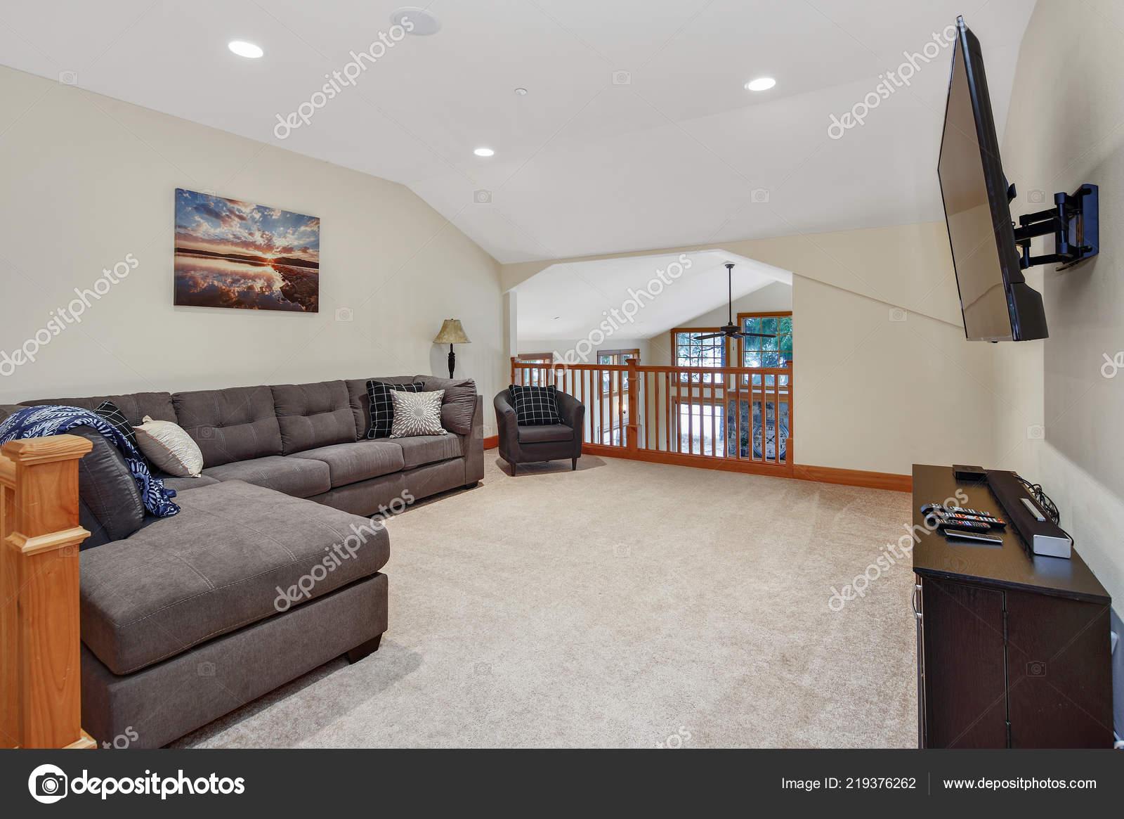 Second Floor Landing Cozy Living Space Large Grey Corner