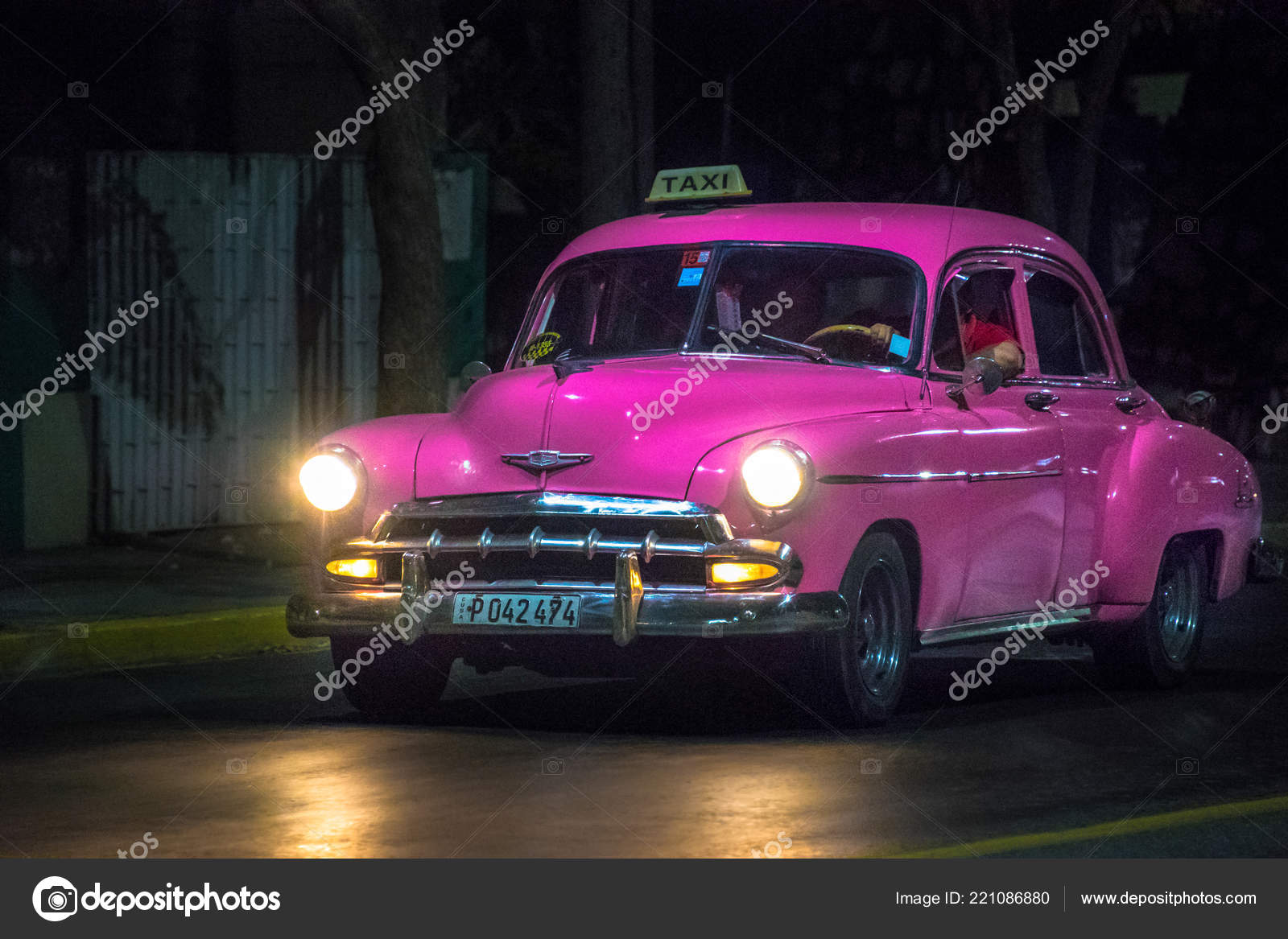 Chevrolet 1949 Old Obsolete American Cars Action Nighttime Vehicles