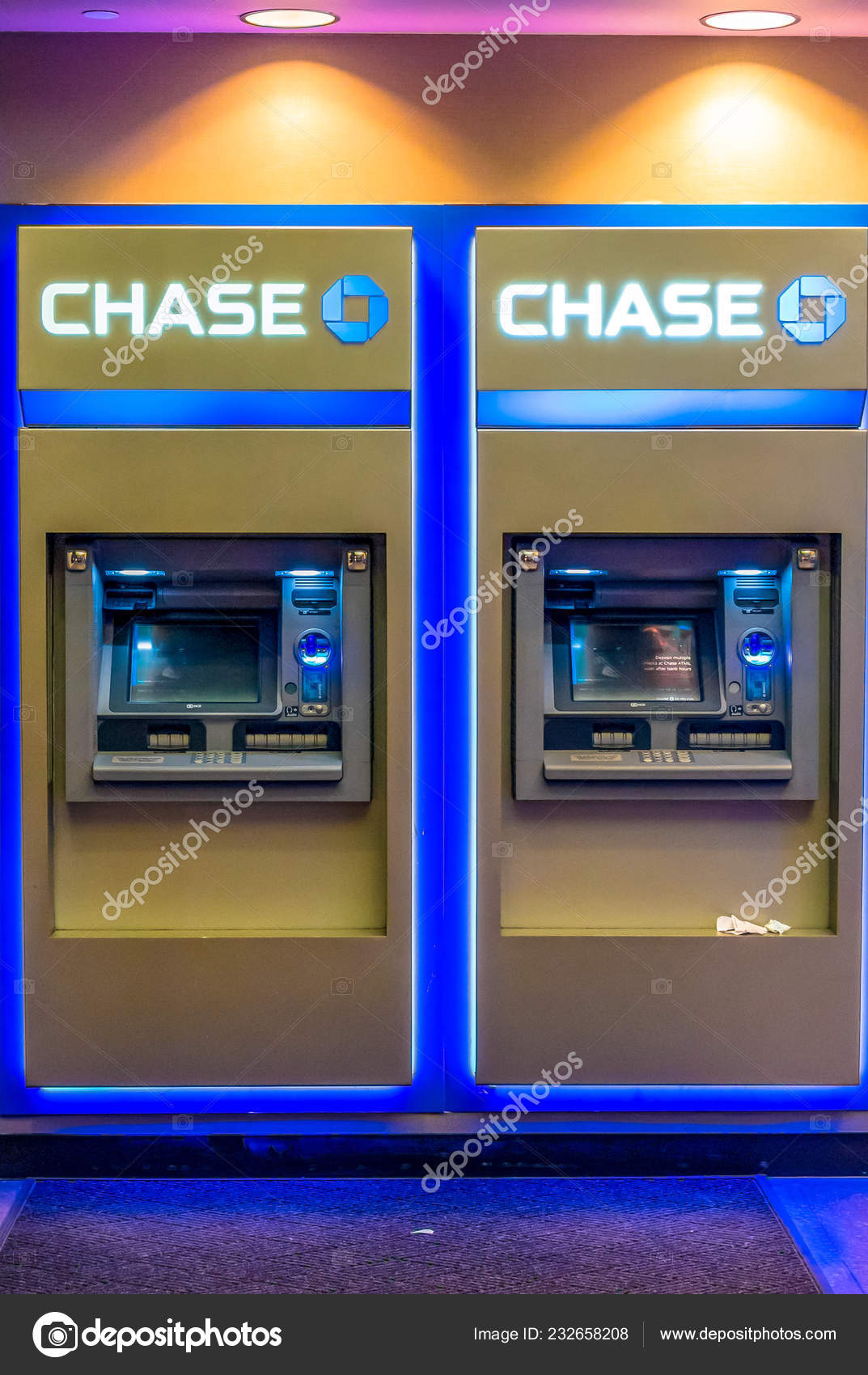 New York Usa September 2018 Chase Bank Atms Automated Teller Stock