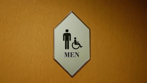 Motion megbénít és ember mosdó logó falra