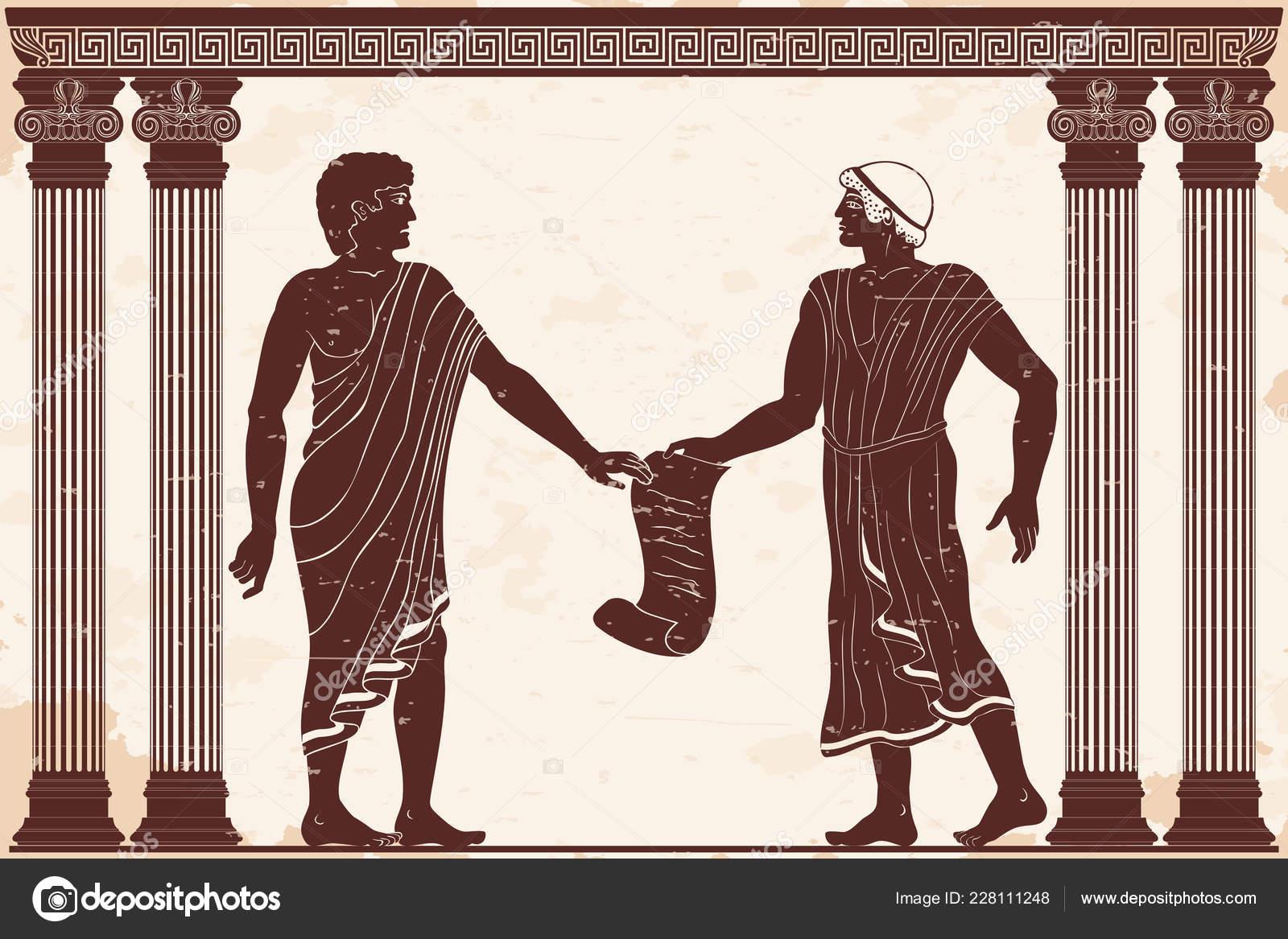 Древнегреческий суд рисунок