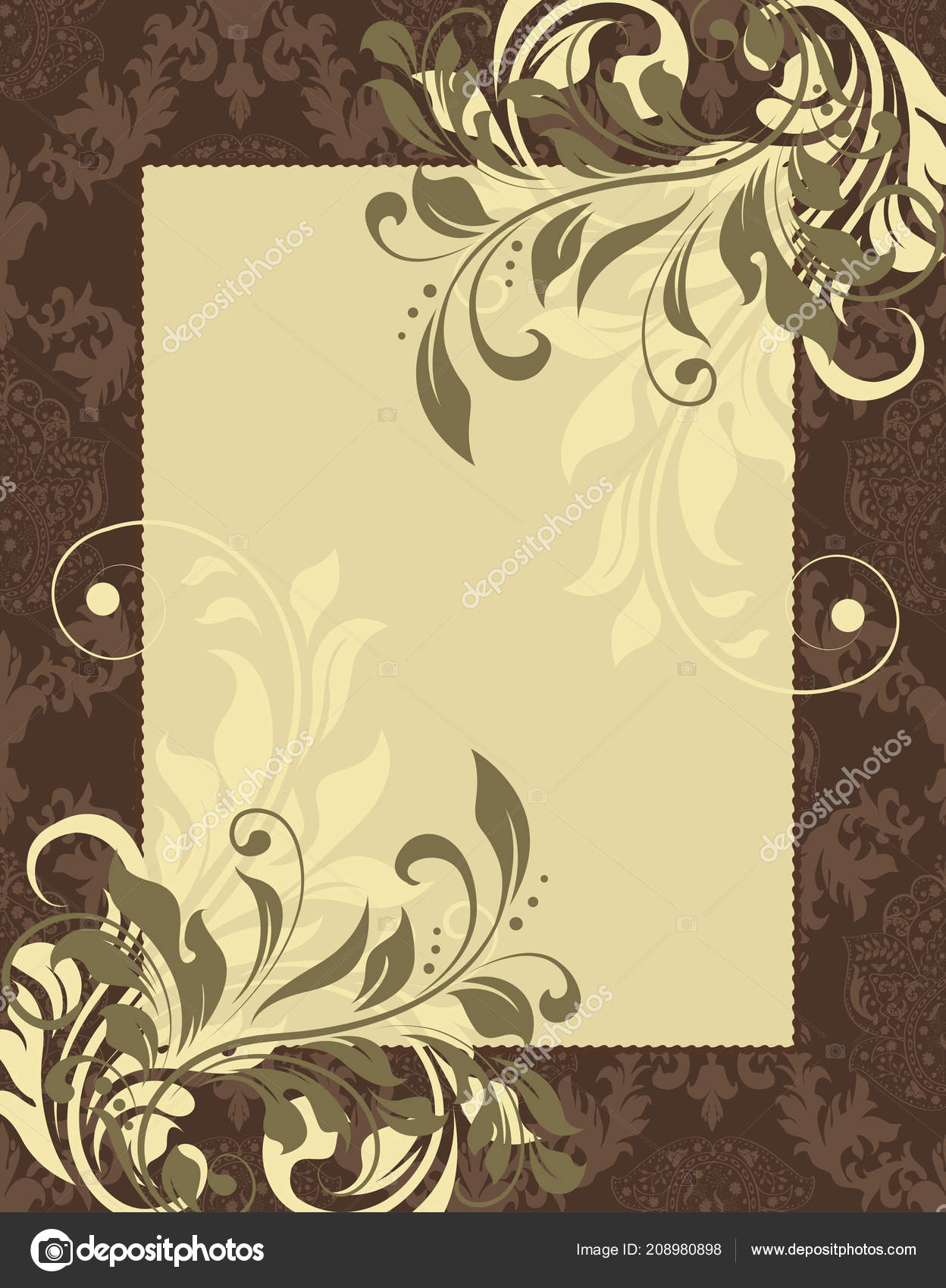 Vintage invitation card ornate elegant retro abstract floral design vintage invitation card ornate elegant retro abstract floral design vector vetor de stock stopboris Gallery