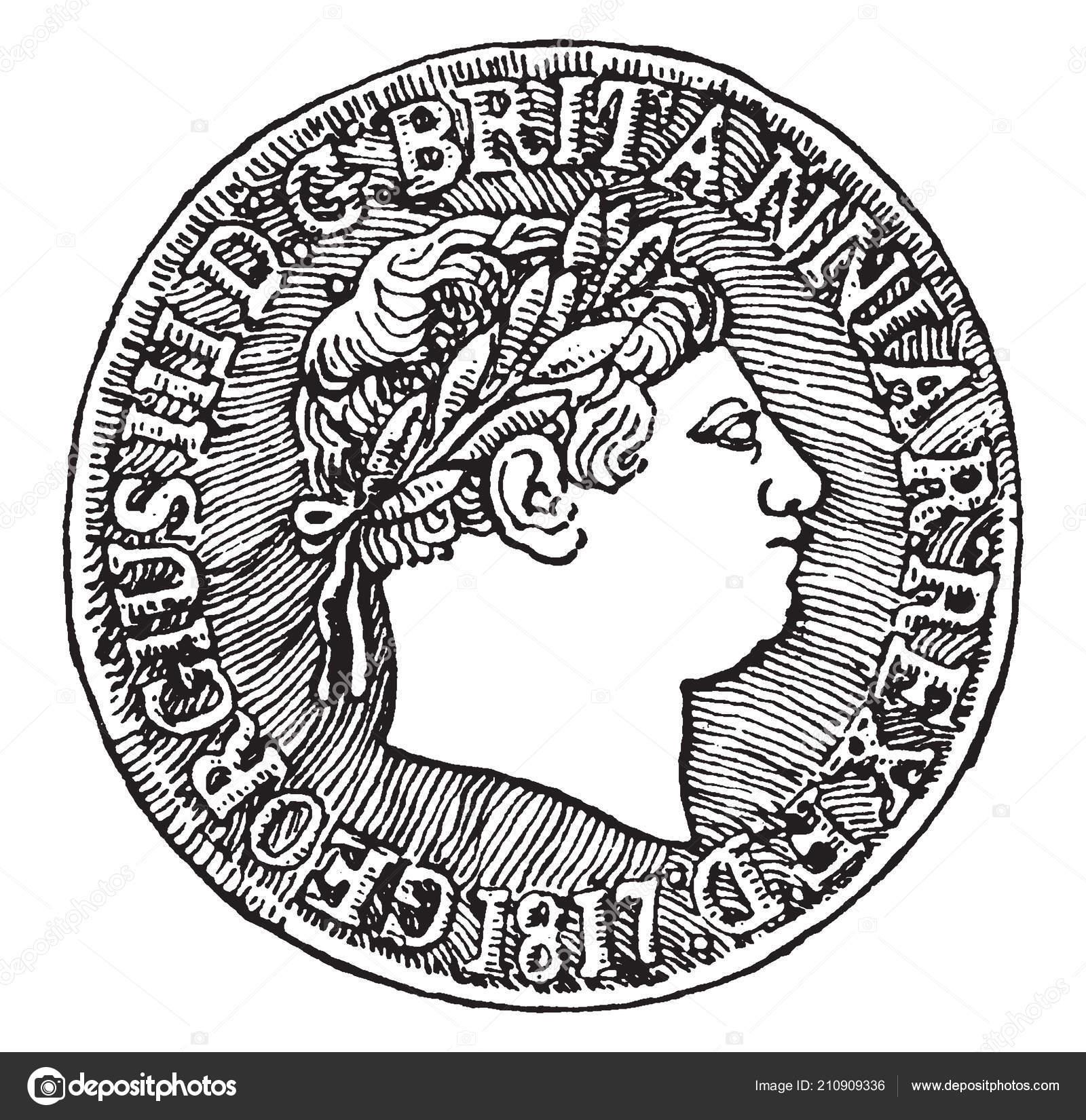 Britische Sovereign George Iii 1817 Vorderseite Eine Britische Gold