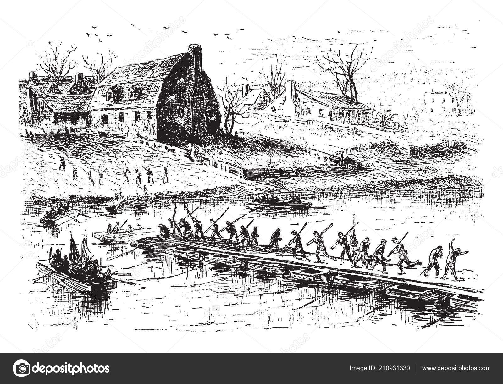 Pontoon Drawing Sylvan Boat Wiring Diagram Laying Soldiers Making Boats Coast Fredericksburg 1600x1222