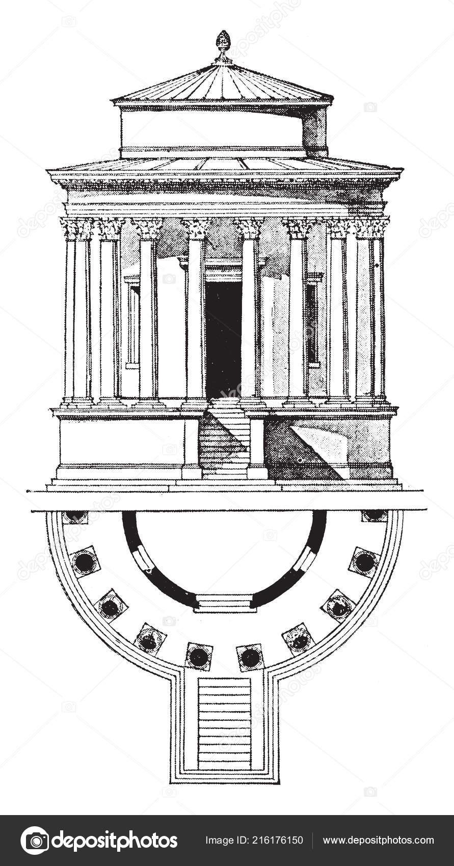 Siglo Tivoli Renacimiento Templo Bce Desde Primer Vesta Admirado JlKT1cF