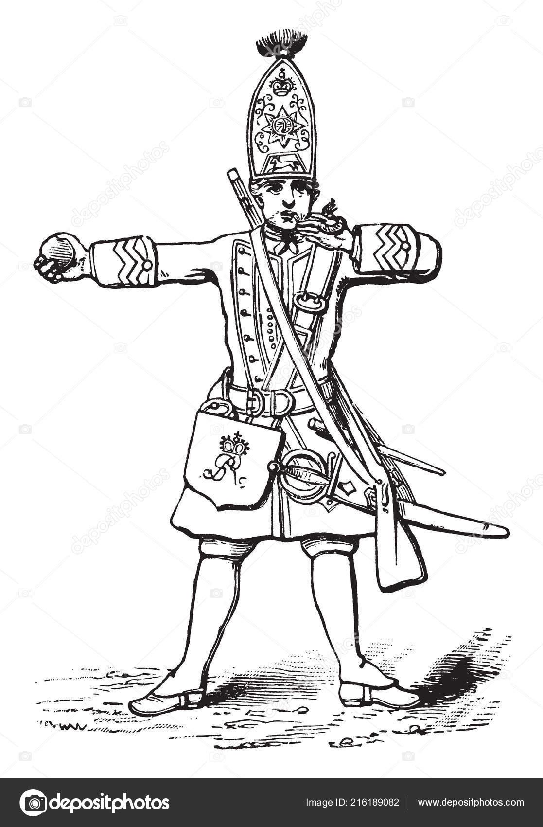British Grenadier Blowing His Fuse Light Grenade Vintage Line