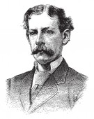 Fotografia James Gordon Bennett, 1795-1872, fu il fondatore ed editore del New York Herald e una figura importante nella storia dei giornali americani, disegno dellannata o illustrazione incisione