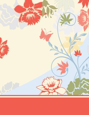 vector illustration, wallpaper with floral elements