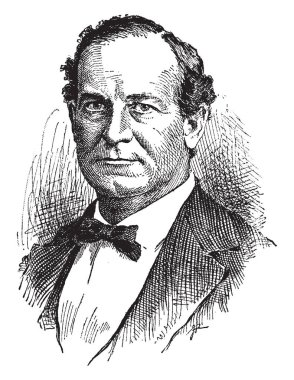 William Jennings Bryan, 1860-1925, he was an American orator and politician from Nebraska, he also served in the U.S. house of representatives and as the U.S. secretary of state, vintage line drawing or engraving illustration
