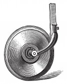 Válcování coulter, vintage gravírovanou. Průmyslové encyklopedii E.-O. Lami - 1875