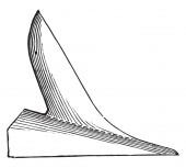 Coulter je čištění sám, s pravítkem, vintage gravírovanou. Průmyslové encyklopedii E.-O. Lami - 1875
