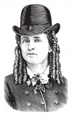 Fotografie Dr. Mary Edwards Walker, 1832 – 1919, er war ein US-amerikanischer Abolitionist, Verbote, Kriegsgefangene und Chirurg, Vintage Strichzeichnung oder Gravur illustration