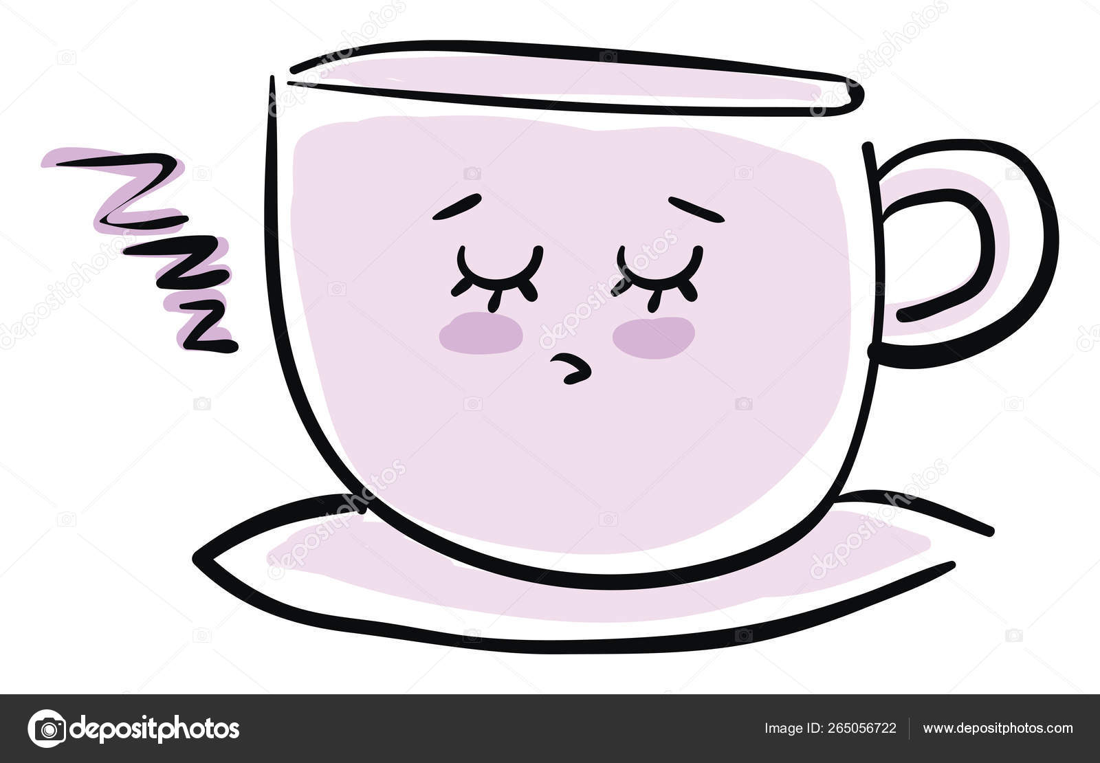 Sleeping Coffee Cup Vector Or Color Illustration Vector Image By C Morphart Vector Stock 265056722