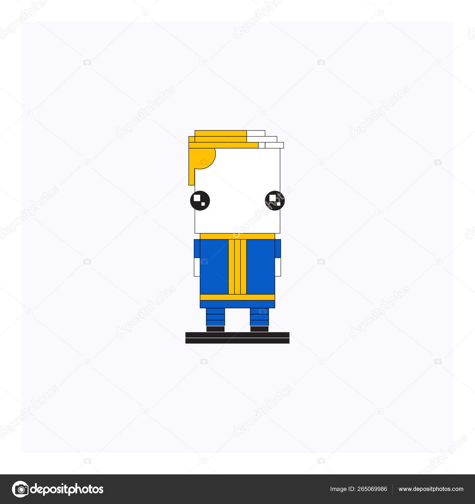 Cartoon legoman/Lego minifigure vector or color illustration