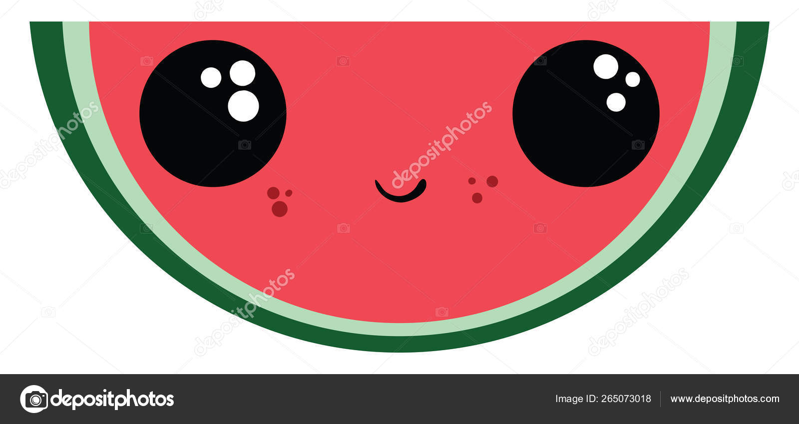 Emoji of a sliced watermelon vector or color illustration