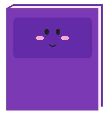 Purple copybook, illustration, vector on white background.