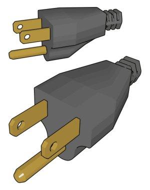 Power head, illustration, vector on white background.