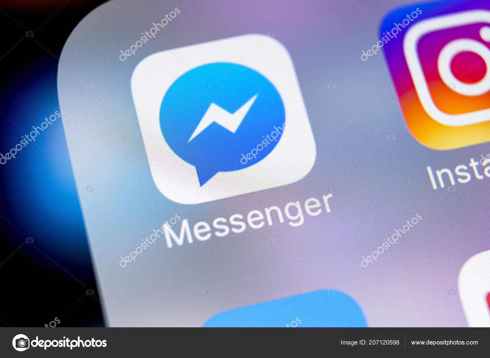 Sankt Petersburg Russia March 2018 Facebook Messenger