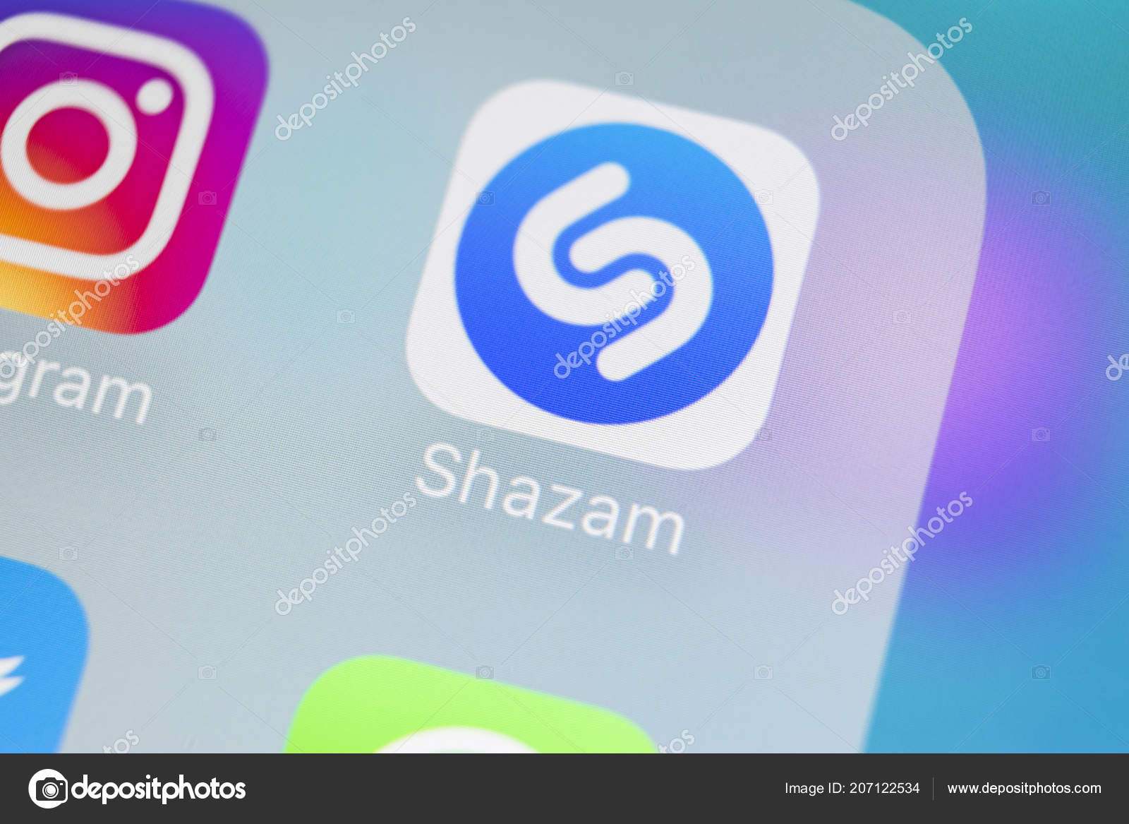 Sankt Petersburg Russia March 2018 Shazam Application Icon