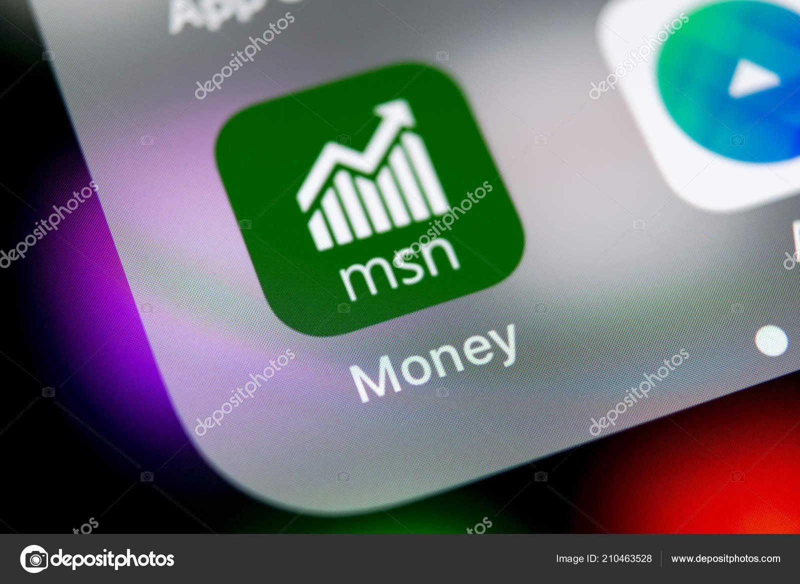 Sankt Petersburg Russia August 2018 Microsoft Msn Money