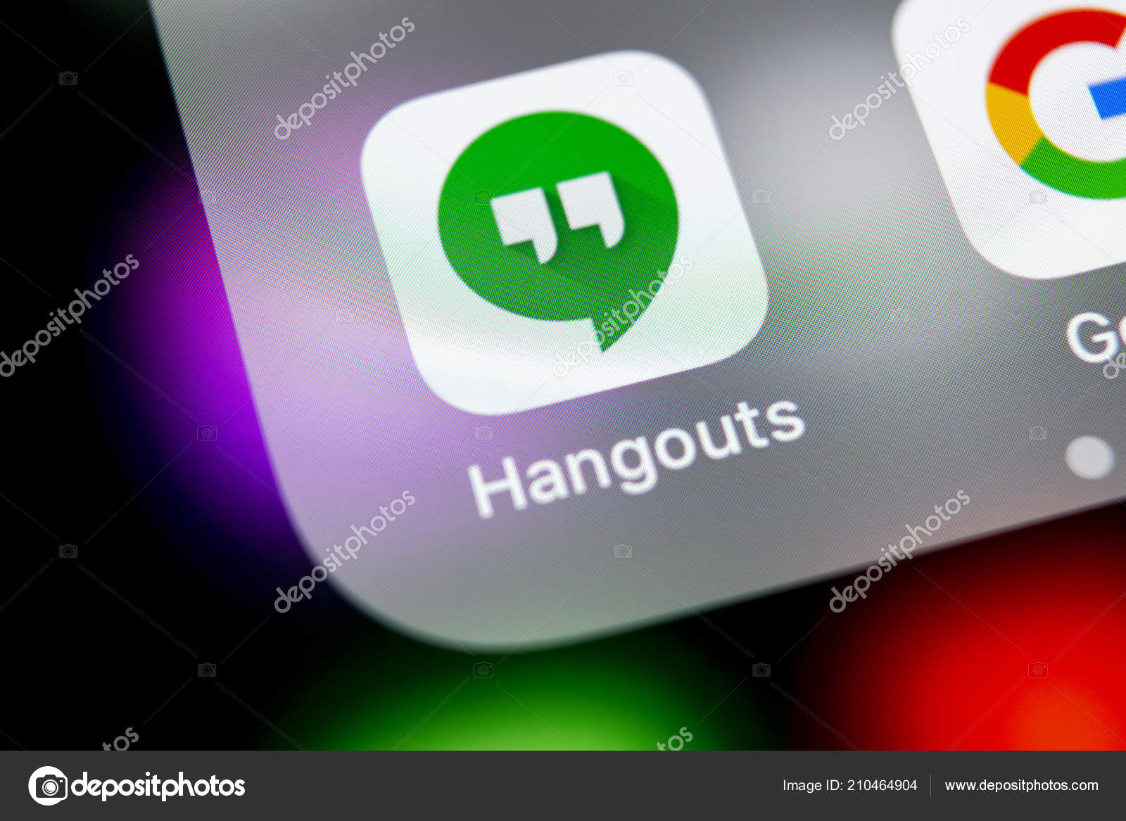 Sankt Petersburg Russia August 2018 Google Hangouts Application Icon