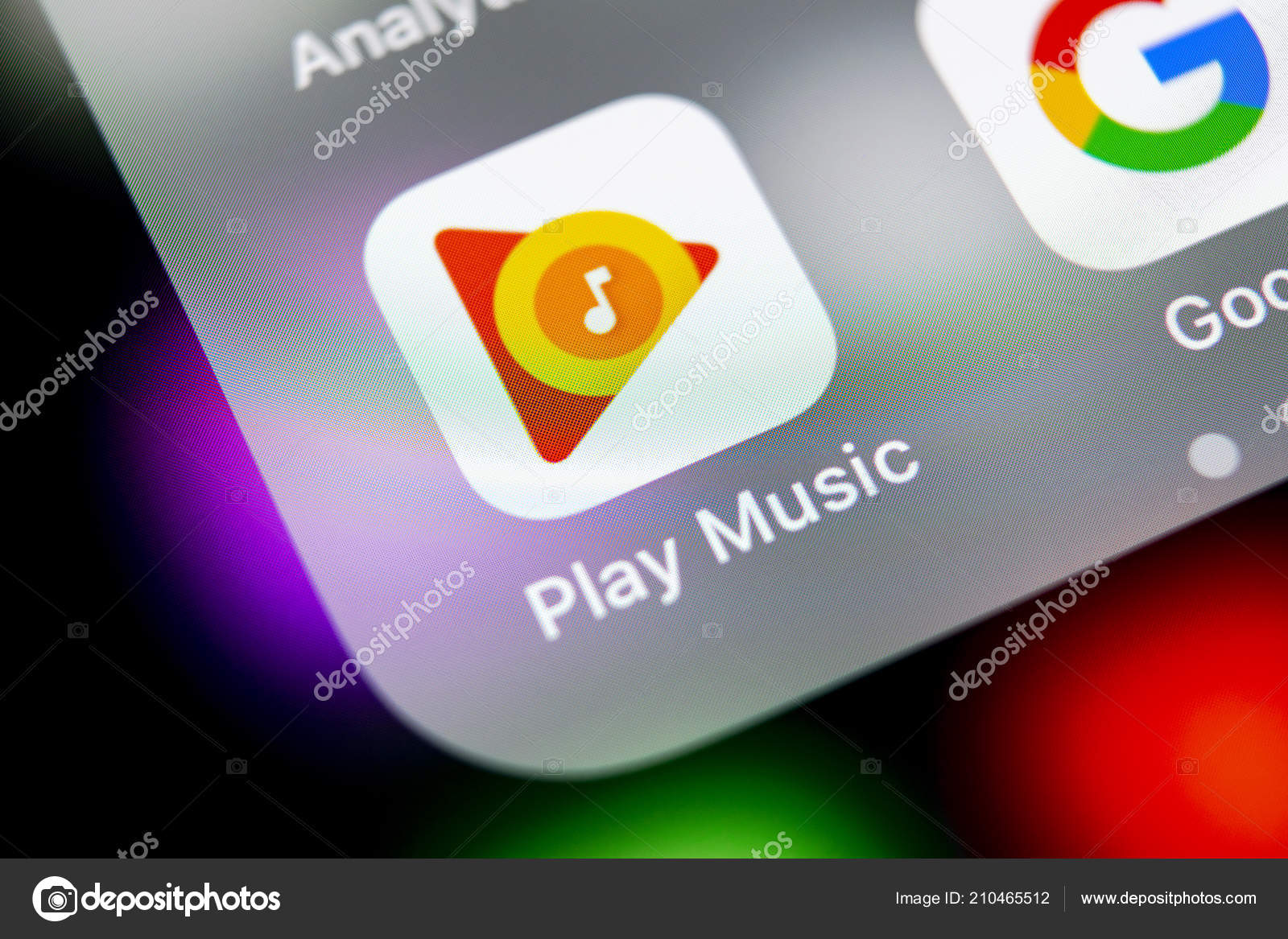 Sankt Petersburg Russia August 2018 Google Play Music Application