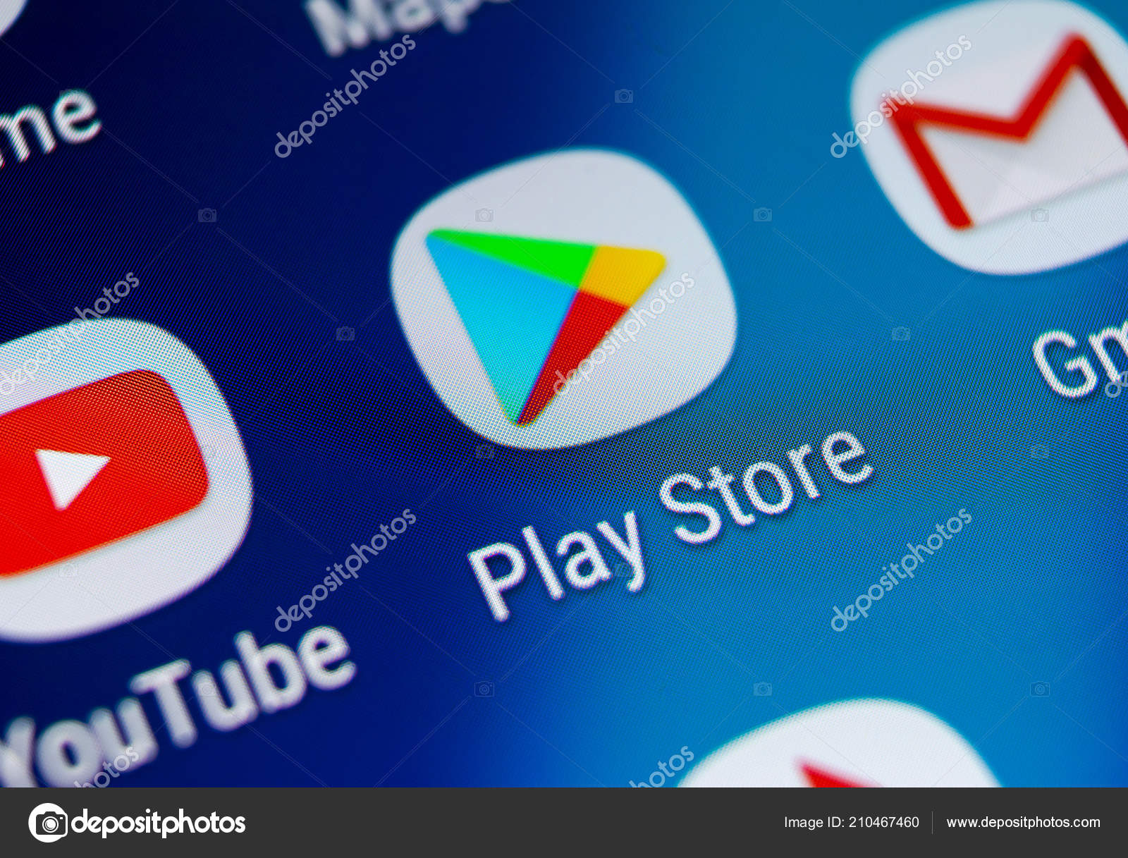 Sankt Petersburg Russia August 2018 Play Store Application