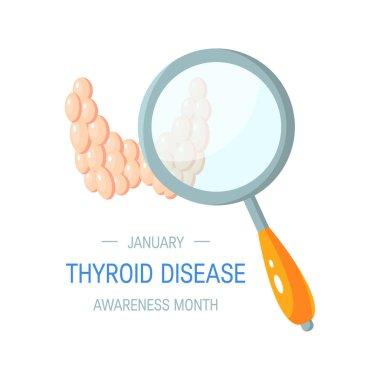 Thyroid awareness month vector concept