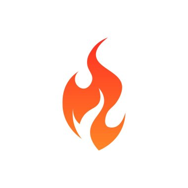 Flame icon. Simple vector illustration in flat style isolated on a white background. icon