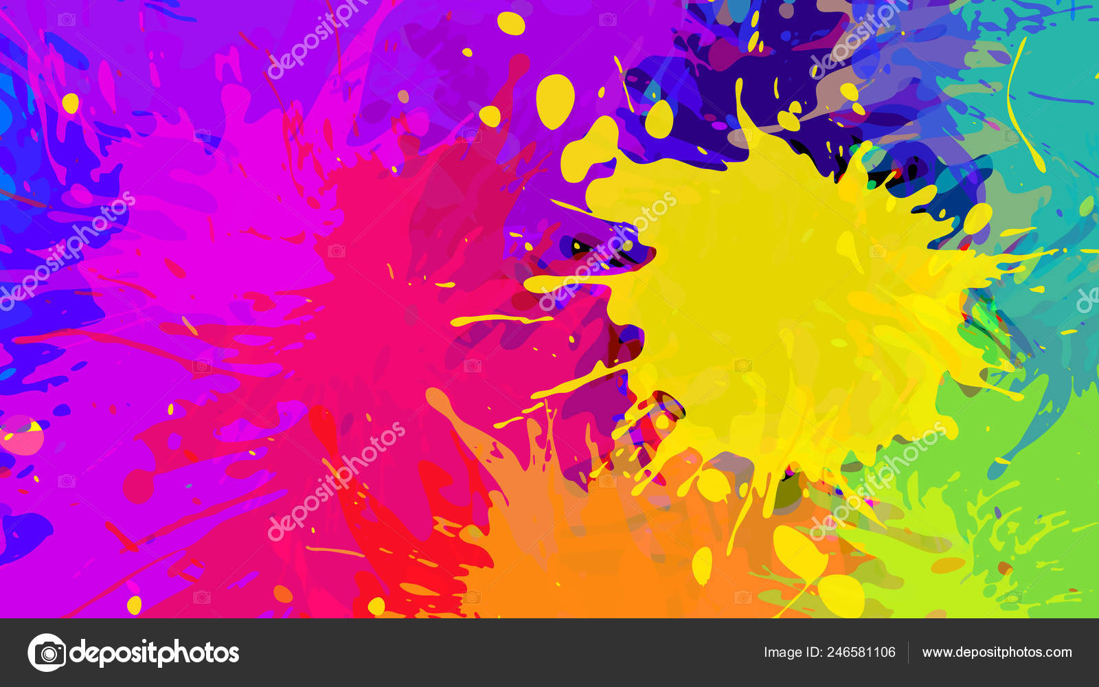 Paint splash wallpaper hd | Wide Format Abstract Colorful