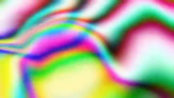 abstraktní fuzzy rychlý film, duhově holografické barevné pozadí, vlnky zvlněný povrch