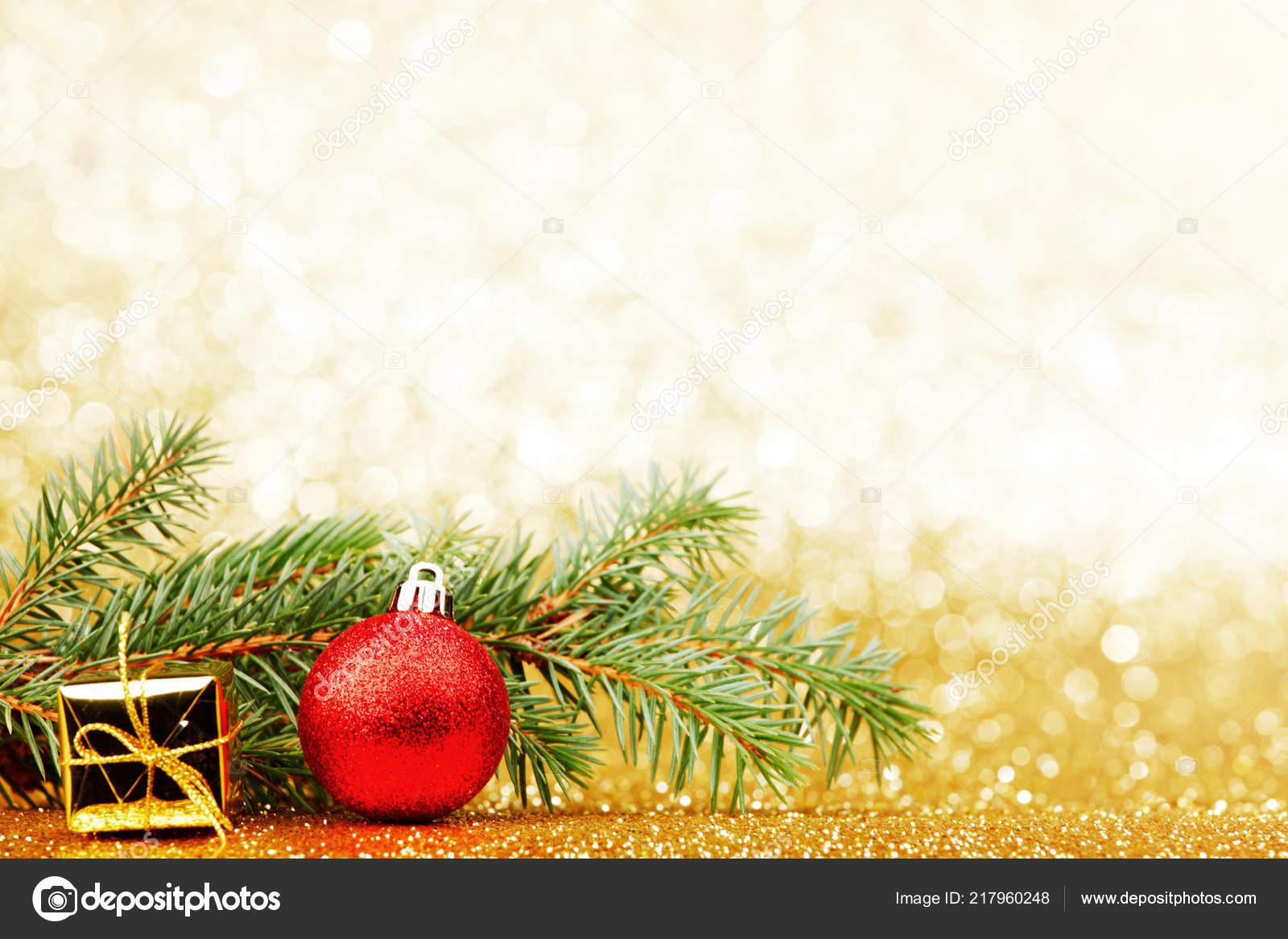 Tarjetas De Navidad Para Descargarimágenes Para Descargar: Tarjeta Navidad Con Rama Abeto Decoraciones Sobre Fondo