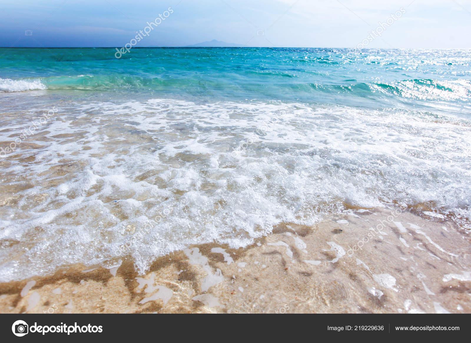 Onda Del Mare Sulla Sabbia Spiaggia Bellissimo Sfondo Naturale