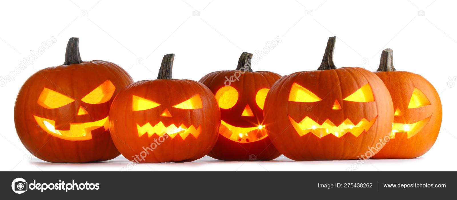 Dynie Halloween Na Białym Zdjęcie Stockowe Yellow2j