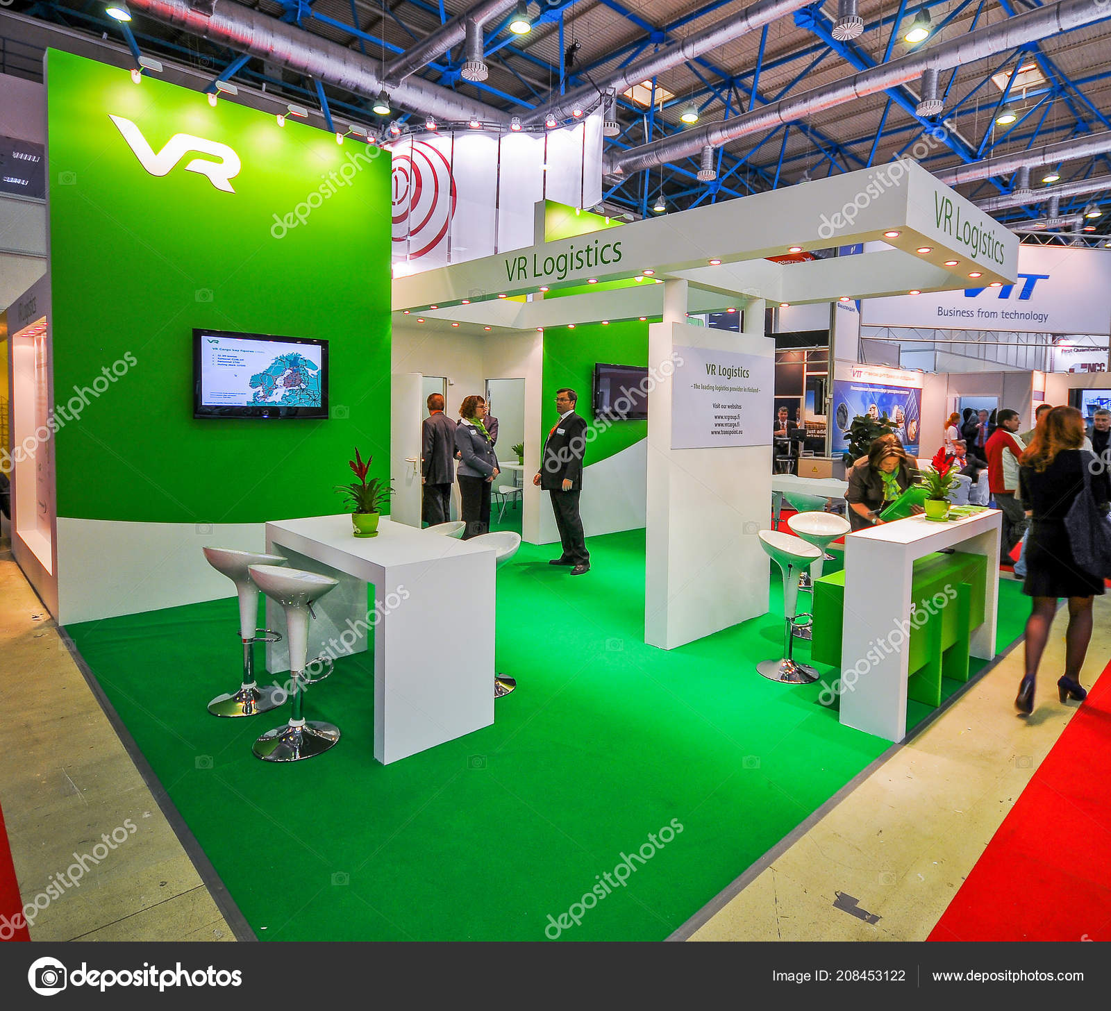 Exhibition Booth Photography : Logistics booth transrussia 2010 transport exhibition moscow russia