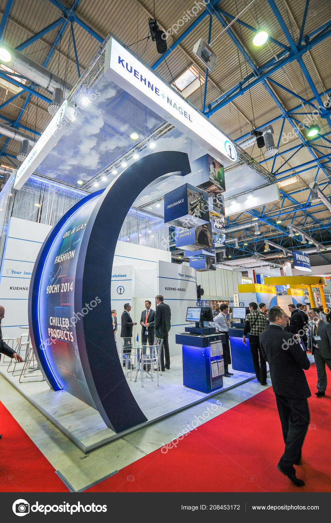 Exhibition Booth Photography : Kuehne nagel booth transrussia 2010 transport exhibition moscow