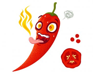 Cartoon red chili