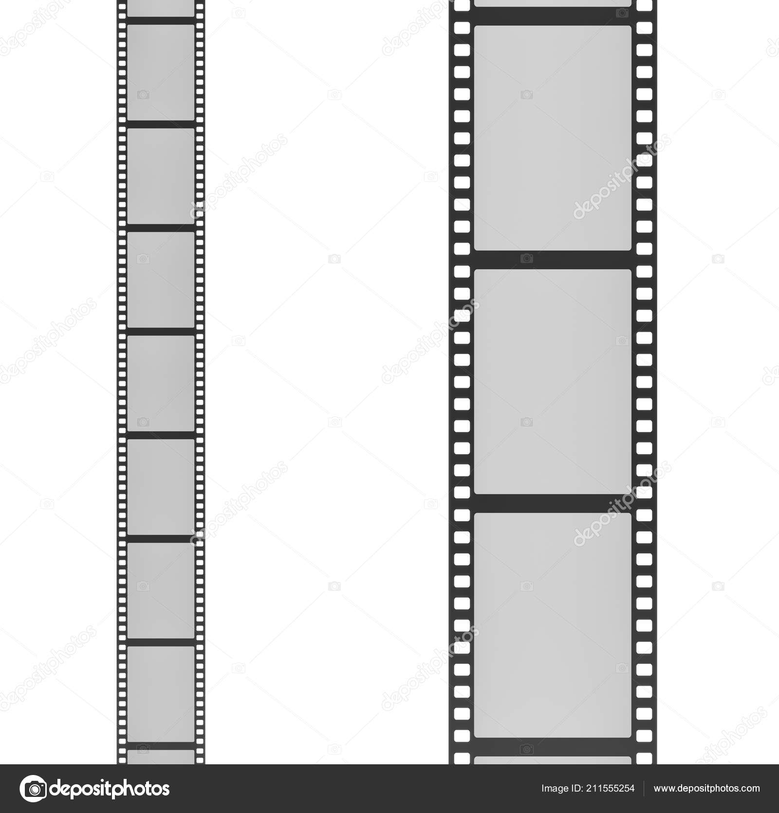 3d rendering of two film strips placed vertically next to each other ...