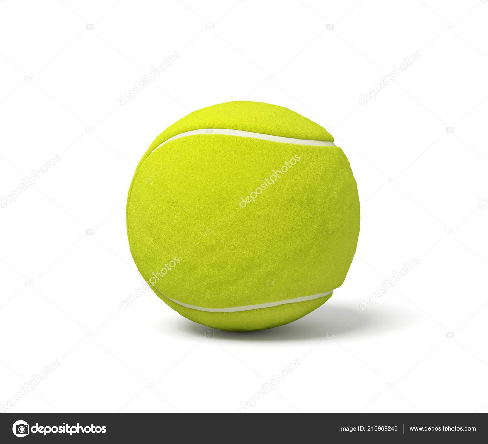 2332e261ef9f0 Rendu 3D d'un standing de balle de tennis vert acide unique sur un fond  blanc avec une ombre. Jeu de tennis. Jeux et jeux. Engins de Wimbledon.