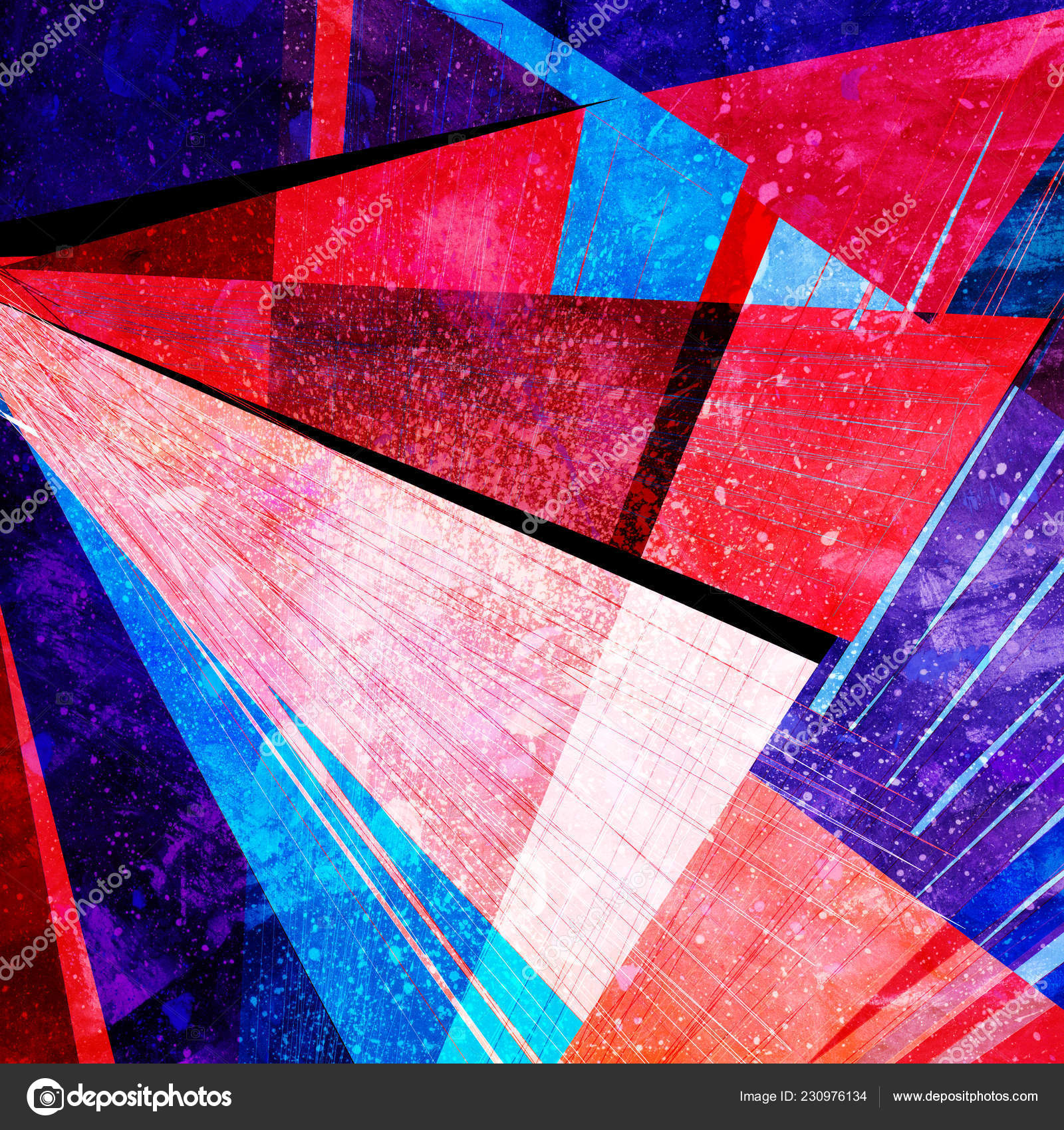 Abstract Painting Geometric Design Examples Abstract