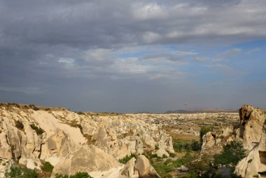Photo of beautiful landscape views of the mountains of Cappadocia in Turkey on a sunny afternoon autumn