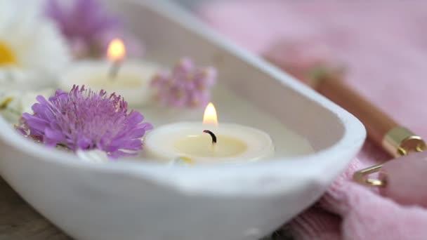 Lázně nastavení života se svíčkami