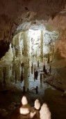 the Amazing Frasassis cave with his big 5 rooms and long stalactities