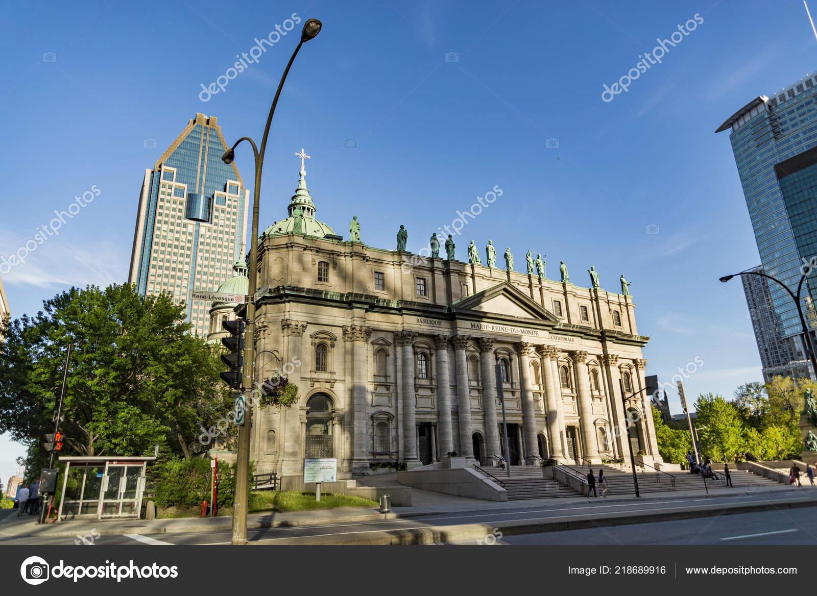 1c8188428 Montreal Canadá Maio 2017 Maria Rainha Mundo Catedral Cathedrale Marie —  Fotografia de Stock