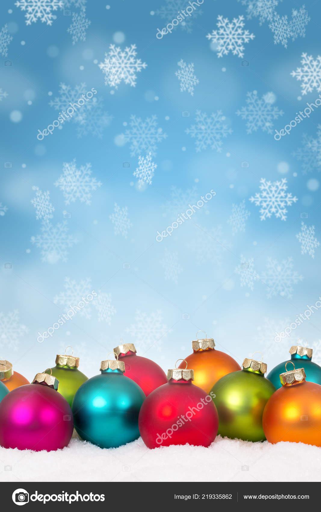 Christmas Background Portrait.Many Colorful Christmas Balls Baubles Background Decoration