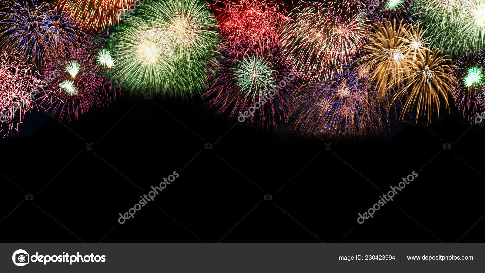New Year Eve Fireworks Background Copyspace Copy Space Banner